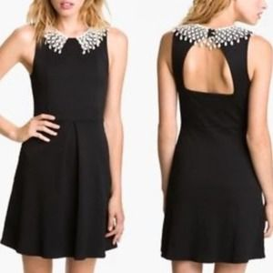 Free People Crochet Collar Fit and Flare Dress